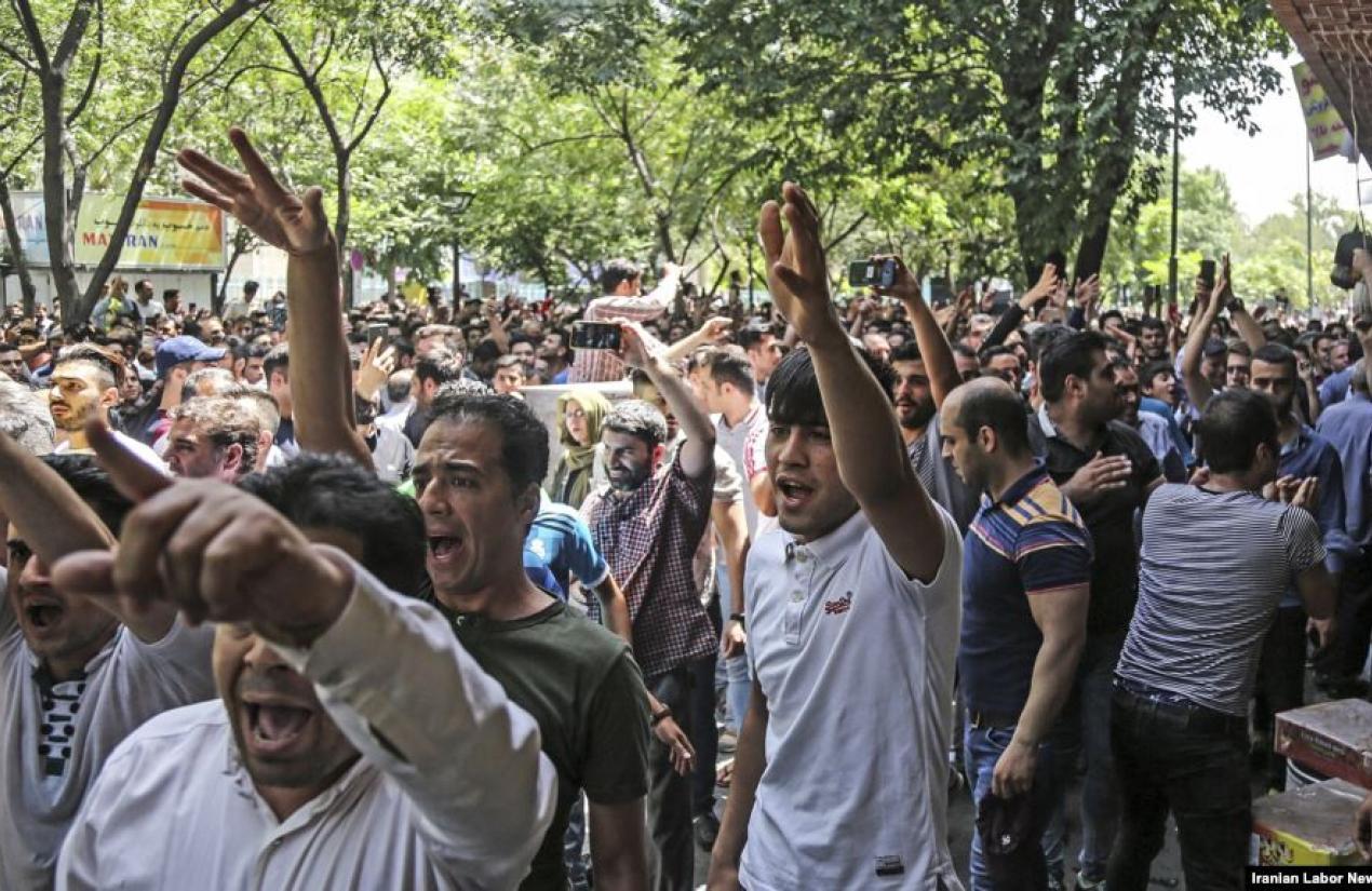 Protest by Bazaar merchants in Tehran, June 2018. ILNA