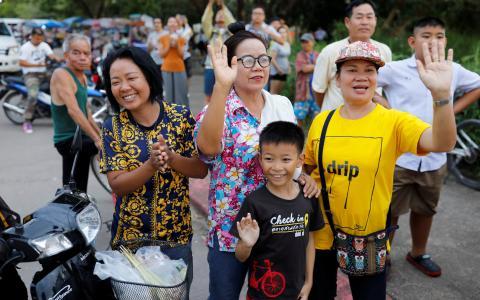 همه محبوسشدگان غار در تایلند نجات پیدا کردند