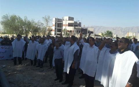 اعتراضات هفته های اخیر در کازرون