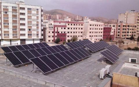 نخستین نیروگاه خورشیدی در شهرصدرای شیراز