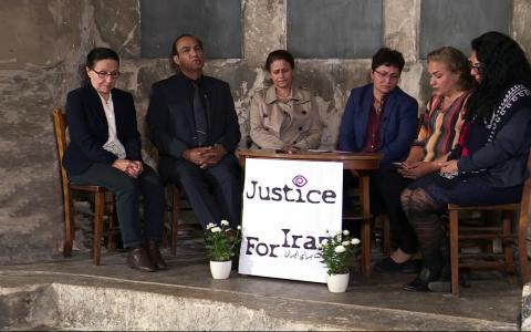 مراسم «سازمان عدالت برای ایران» برای گزارش یافتههای تحقیقات انجامشده درمورد اعدامشدگان سال ۶۷ در ایران