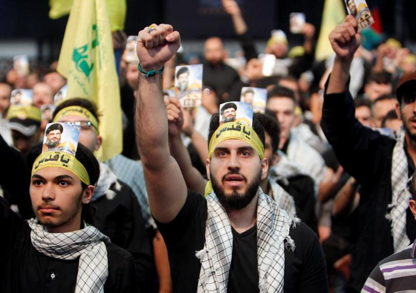 Members of Lebanese Hezbollah. The Shiite organization heavily depends on Iran financial assistance. FILE PHOTO