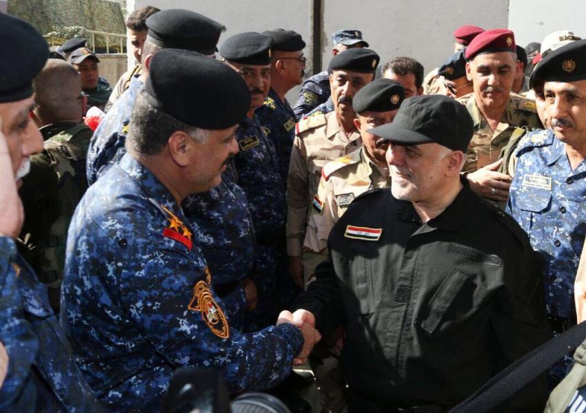 حیدر العبادی، نخست وزیر عراق، صبح روز یکشنبه ۱۸ تیرماه، وارد شهر موصل شد