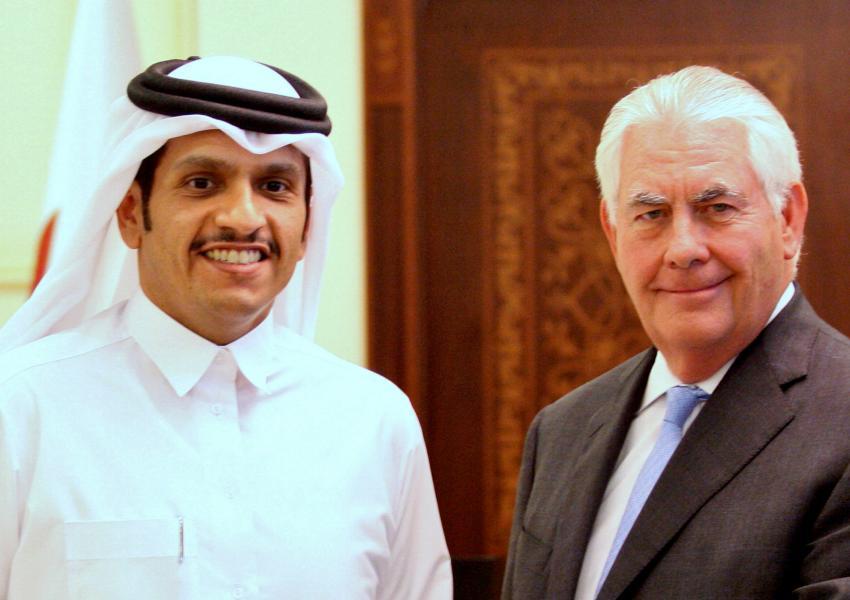 رکس تیلرسون و شیخ تمیم بنحمد آلثانی