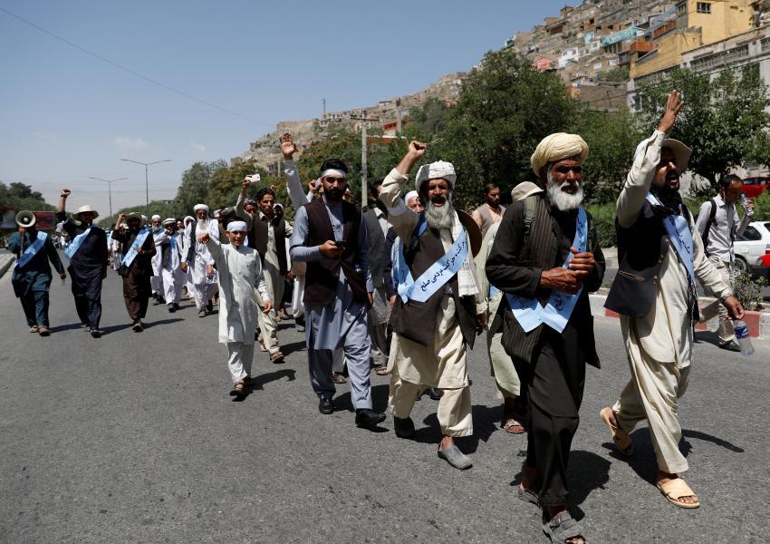 راهپیمایی «کاروان صلح» در افغانستان