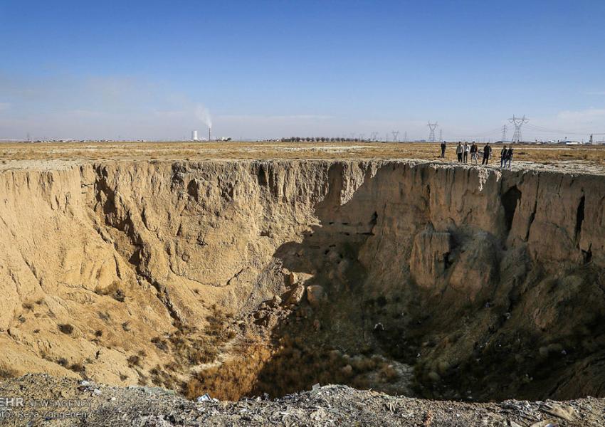 فروچالهای در دشتهای کبودرآهنگ همدان