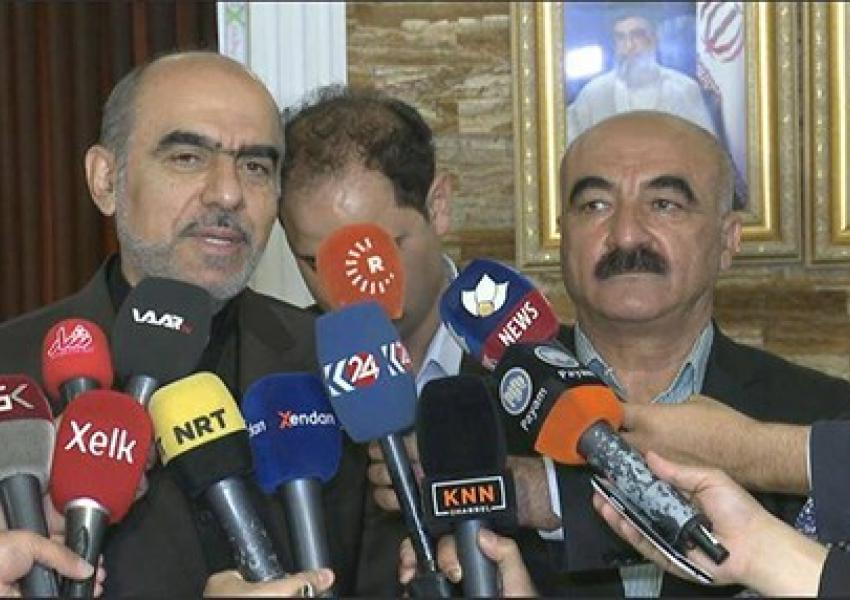 کنفرانس خبری  کنسول ایران سلیمانیه