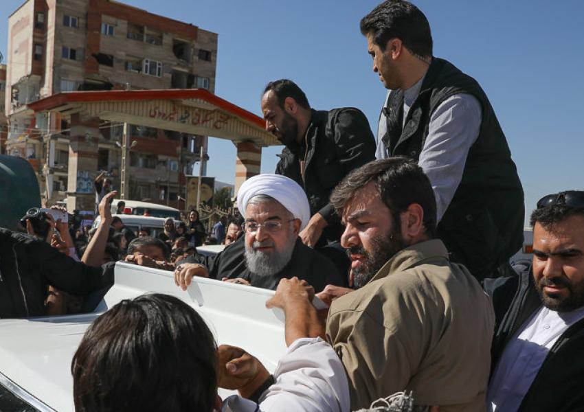 سفر روحانی به مناطق زلزله زده