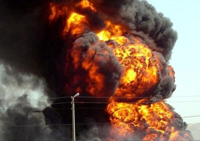 انفجار مخزن میعانات گازی یک کارخانه در فریمان