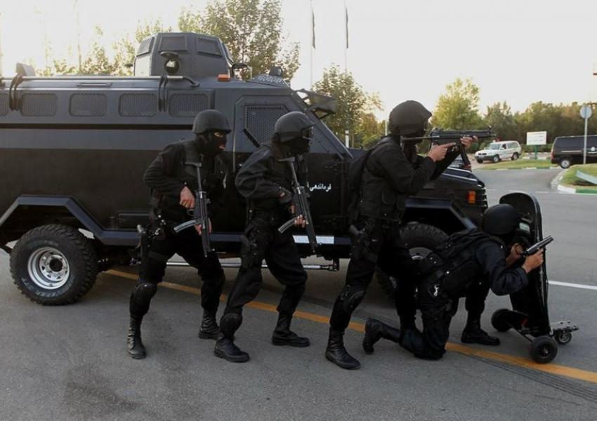 Iran's special anti-riot squad during drills. Undated. FILE PHOTO