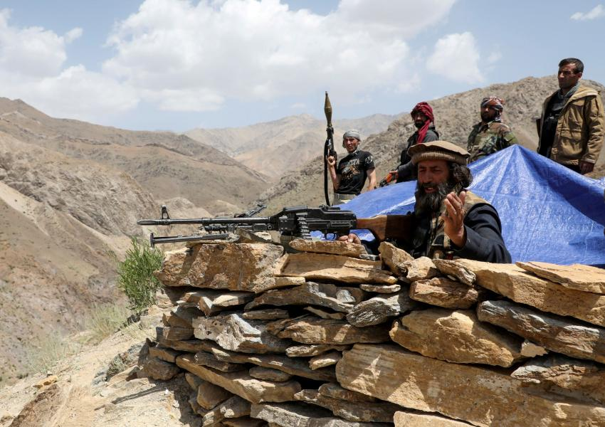 Anti-Taliban fighters before the fall of Kabul. June 2021