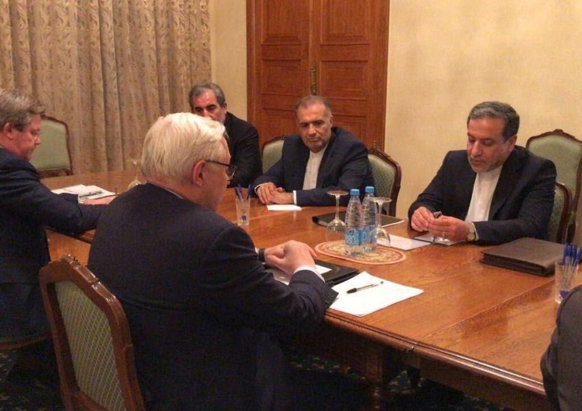 Iran's Abbas Araghchi meeting Russian deputy foreign minister Andrey Rudenko. October 29, 2020
