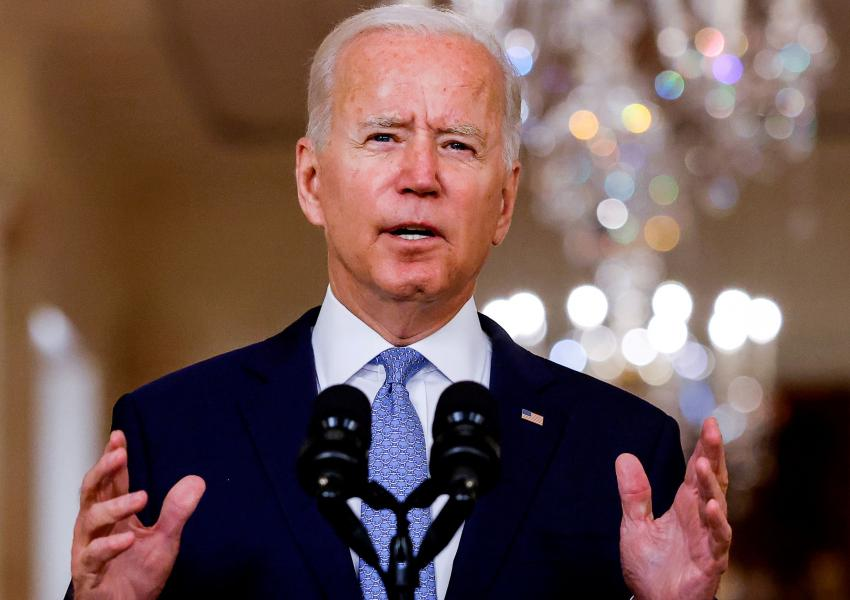 President Joe Biden explaining the Afghan withdrawal on August 31, 2021