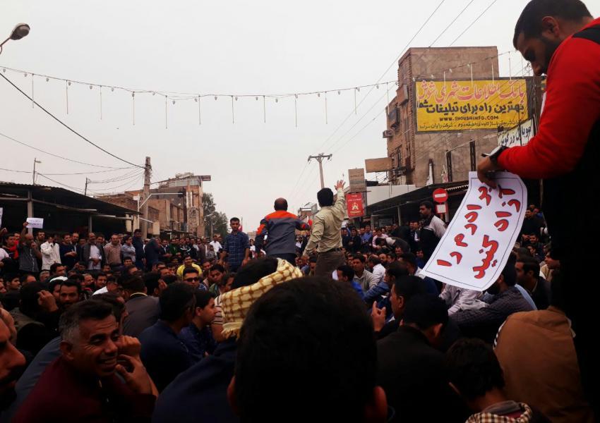 پانزدهمین روز اعتراض کارگران نیشکر هفتتپه