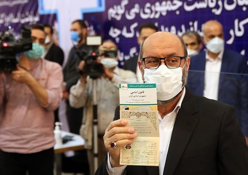 Brigadier General Hossein Dehghan registering as presidential candidate. May 11, 2021