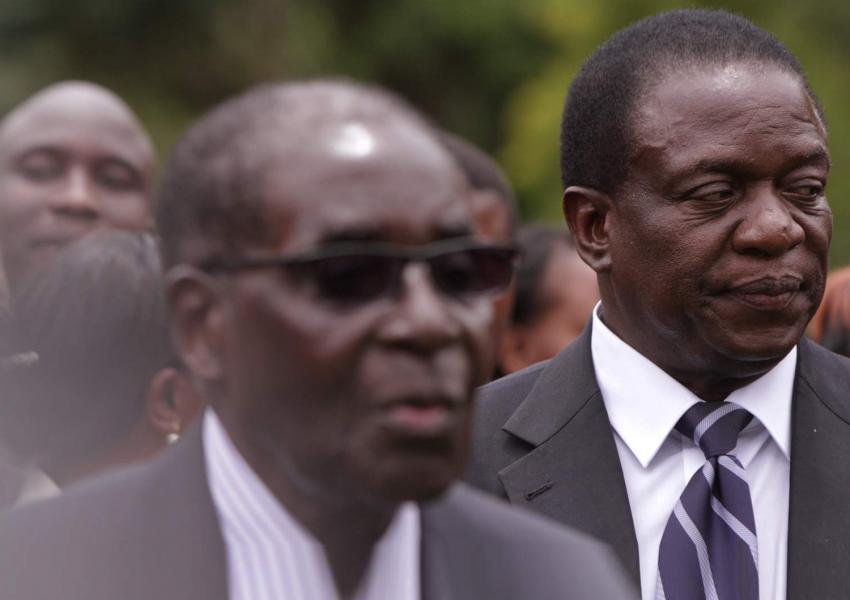 رابرت موگابه و امرسون منگاگوا