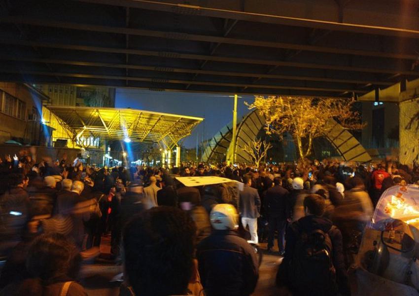Manifestações de protesto em Teerã (11/01/2020)