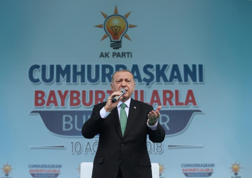 سخنرانی پس از نمازجمعه رجبطیب اردوغان در بایبورت، در واکنش به سقوط ارزش لیر