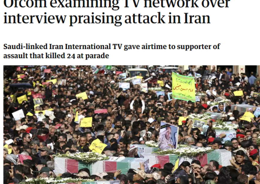The Guardian Corrects the Title of its Article on Iran International