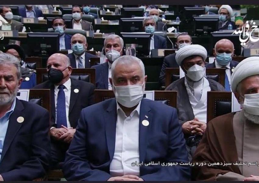 Hamas leader Ismail Haniyeh at Raisi inauguration. August 5, 2021