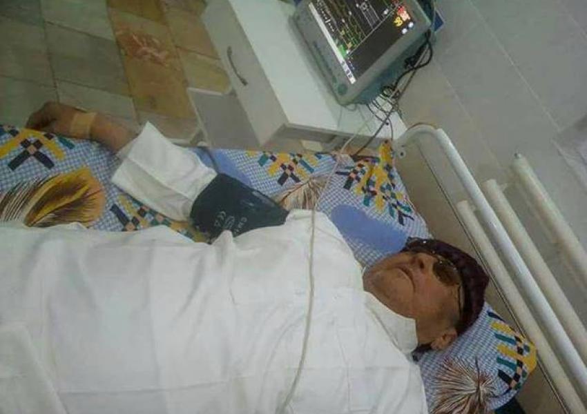 ملا تاجمحمد سرپلی در بیمارستان