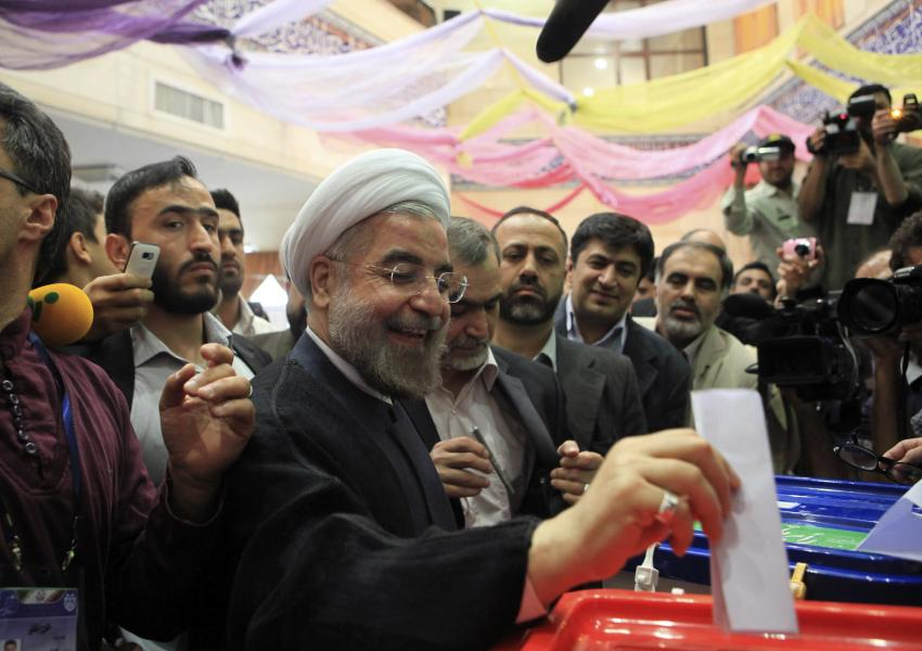 President Hassan Rouhani casting his vote in 2017 presidential elections.