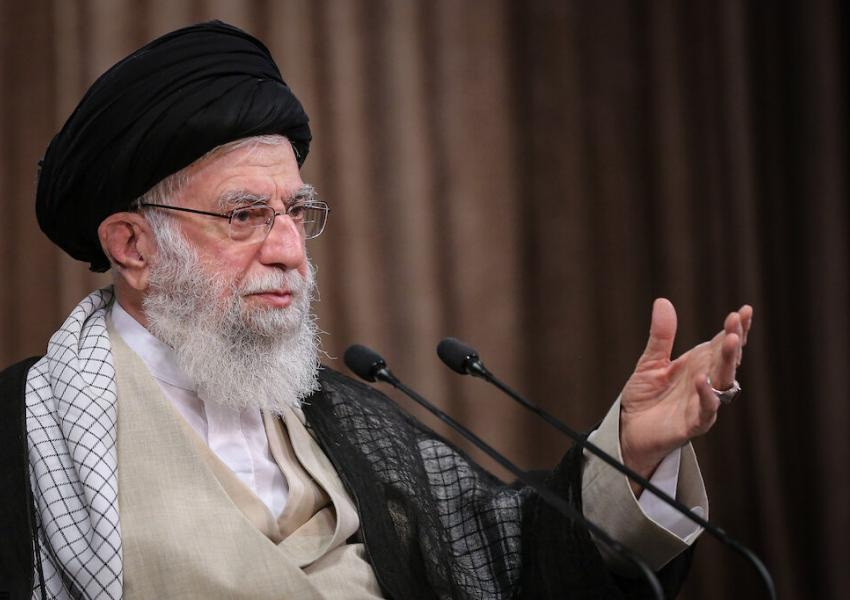 Iran's Supreme Leader Ali Khamenei speaking on the anniversary of the Iran-Iraq war. Sept 21, 2020