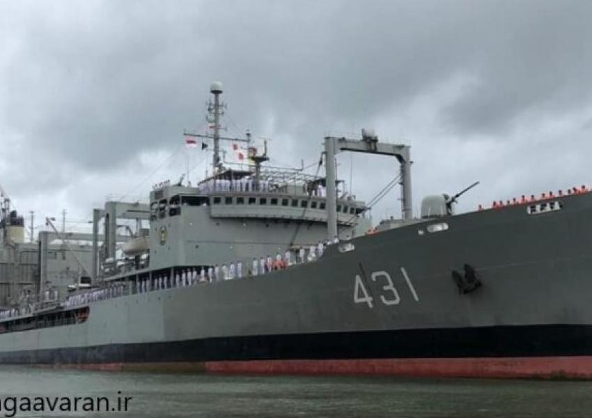 Kharg, the largest Iranian naval vessel. FILE