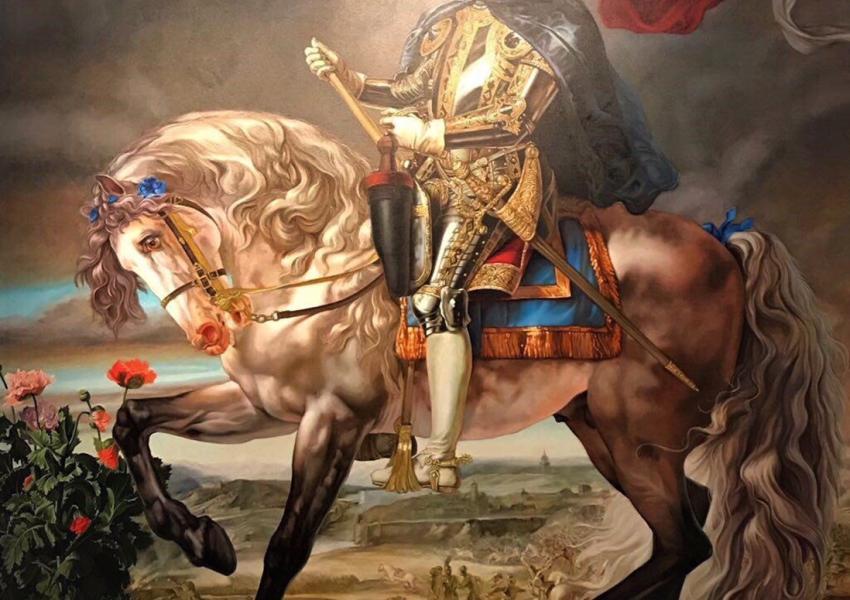 کهیند وایلی؛ سلطان فیلیپ دوم (مایکل جکسون) روی اسب، ۲۰۱۰