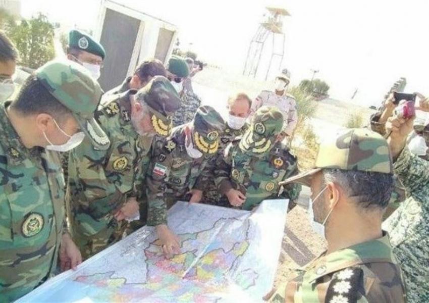 General Kiumars Heydari inspecting Iran's northern border, October 21, 2020