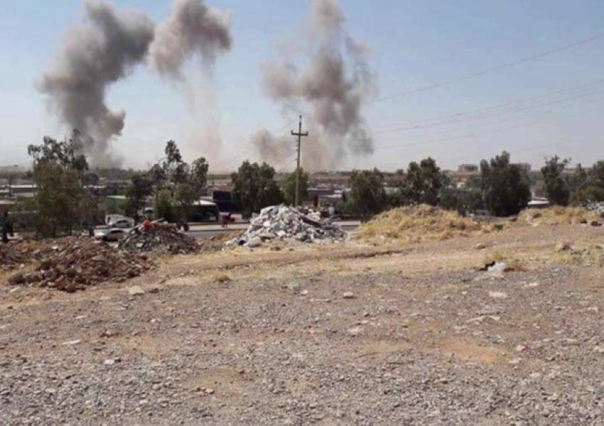 شلیک موشک به پایگاه حزب دمکرات کردستان ایران در منطقه کویه