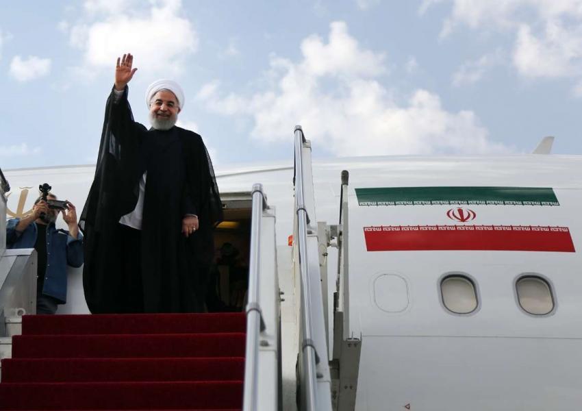 روحانی درحال ترک تهران به مقصد نیویورک