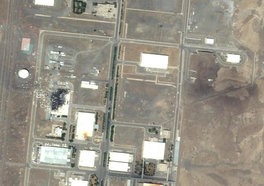 Aerial image showing centrifuge assembly building destroyed in Natanz, July 2, 2020