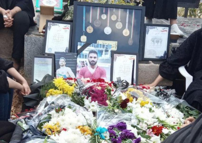 Navid Afkari's grave. Executed September 12, 2020