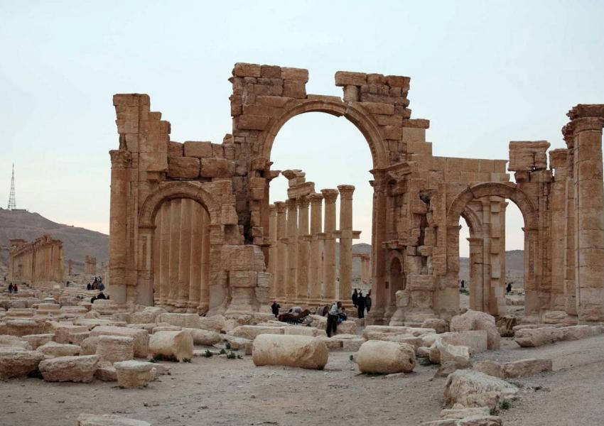 شهر باستانی پالمیرا در سوریه که مدتی در کنترل نیروهای داعش قرار گرفته بود