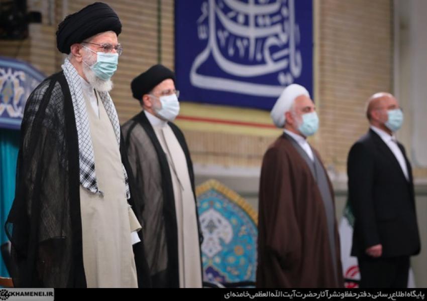 Iran's new president Ebarahim Raisi endorsement ceremony. August 3, 2021
