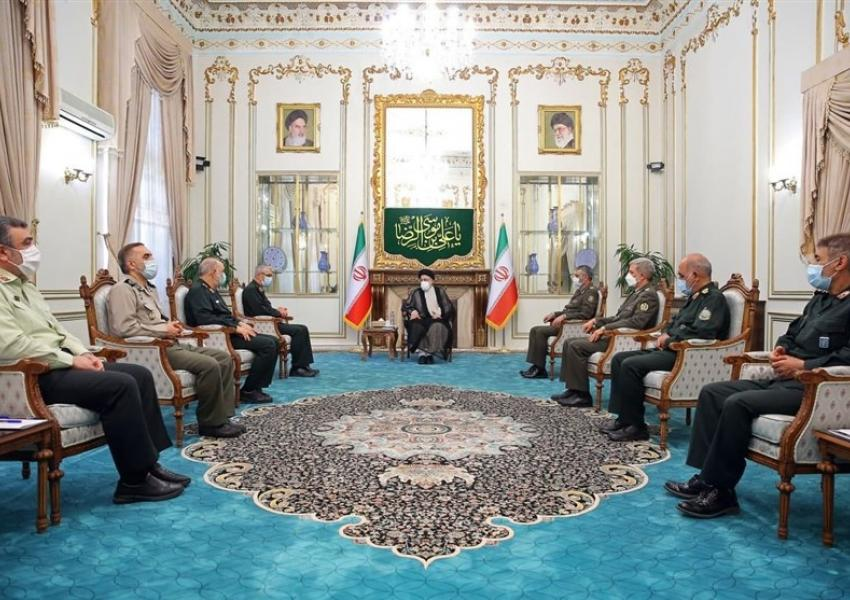 President-elect Ebrahim Raisi meeting with commanders of Iranian armed forces. June 22, 2021