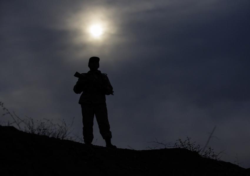 یکی از مرزبانان پاسگاه ساوجی مرز مریوان