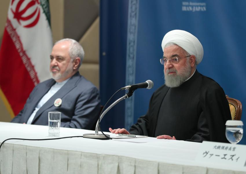 President Hassan Rouhani and foreign minister Javad Zarif. Undated FILE PHOTO