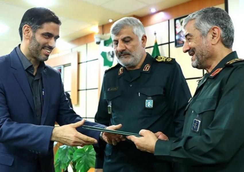 Saeed Mohammad receiving his command of Khatam al-Anbiya. October 7, 2018
