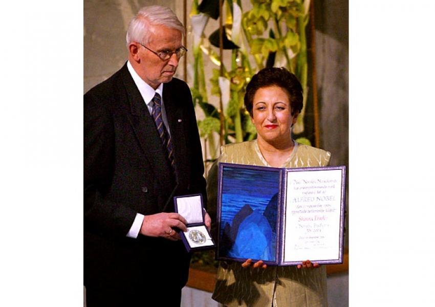 اهدای جایزه صلح نوبل به شیرین عبادی