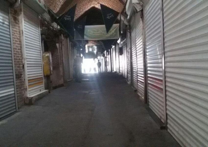 تصویر منتشرشده از اعتصاب در بازار طلای تهران (رسانههای اجتماعی)