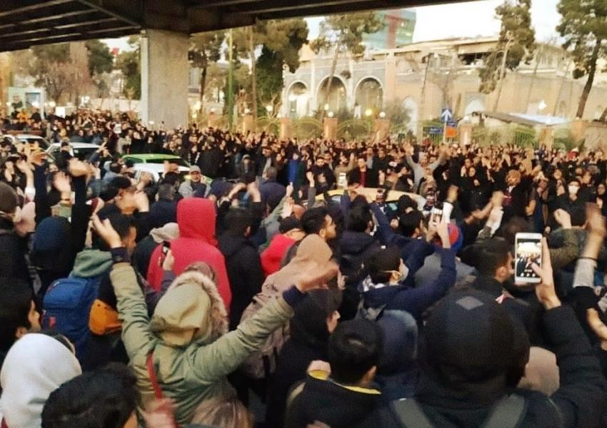 Undated photo of a protest in Tehran, Iran. File photo