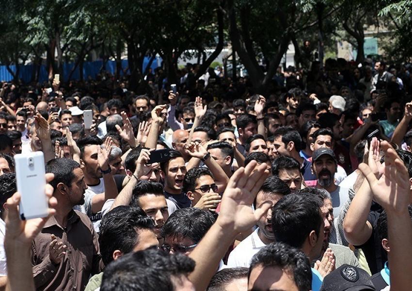Protests in Tehran, Iran. Undated