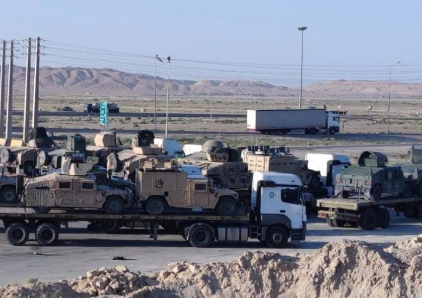 Photo reportedly showing American military hardware from Afghanistan in Iran. September 1, 2021