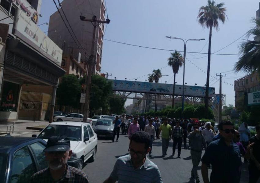 تجمعات اعتراضی کارگران فولاد اهواز