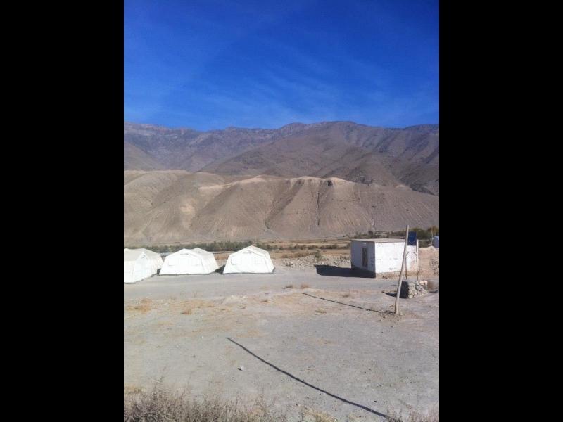 تلیوچ خط جنگ طالبان و جبهه مقاومت (۲۰۰۹). هم اکنون در این منطقه یک مکتب ساخته شده است.