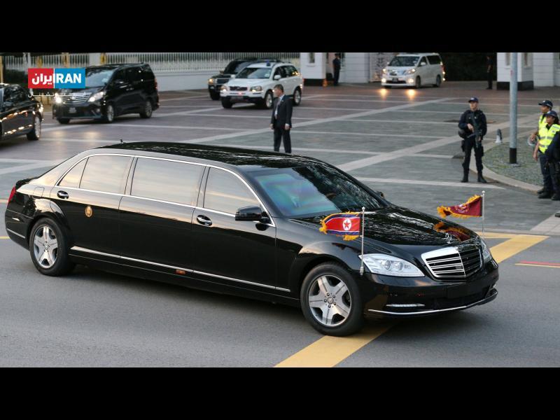 خودروی حامل کیم جونگ اون رهبر کره شمالی در سنگاپور