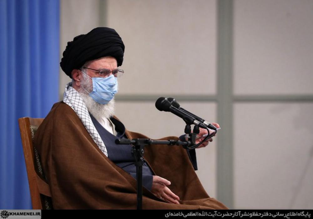 Ali Khamenei, Iran's Supreme Leader in a meeting with senior officials. November 24, 2020