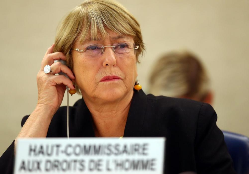 UN High Commissioner for Human Rights Michelle Bachelet. FILE